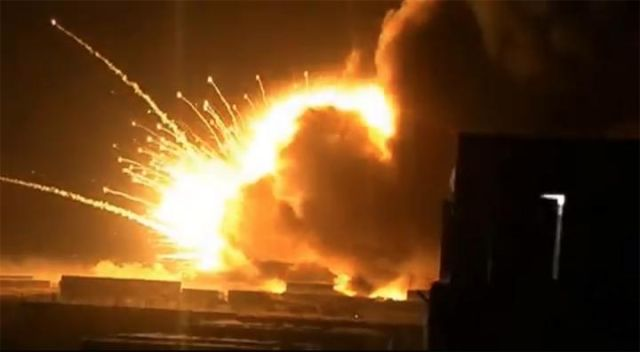 Exploding munitions store captured by Baghdad seismometer