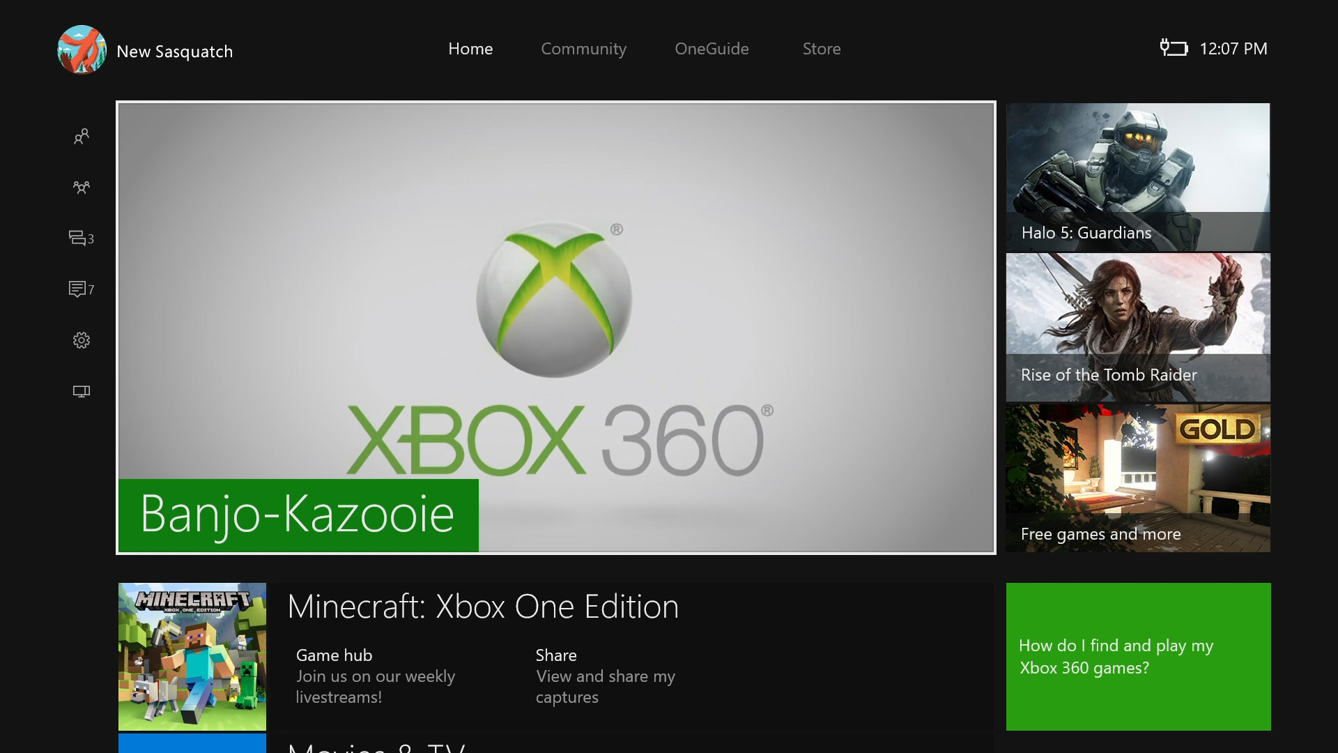 The New Xbox One Experience makes navigating system menus a much smoother experience.