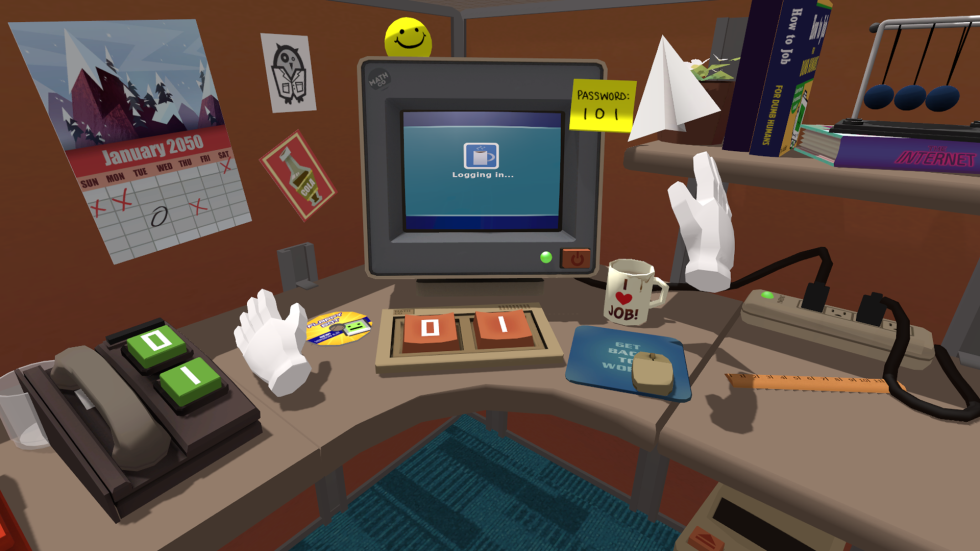 Soon, you'll be able to diddle around in a virtual office on PlayStation VR!