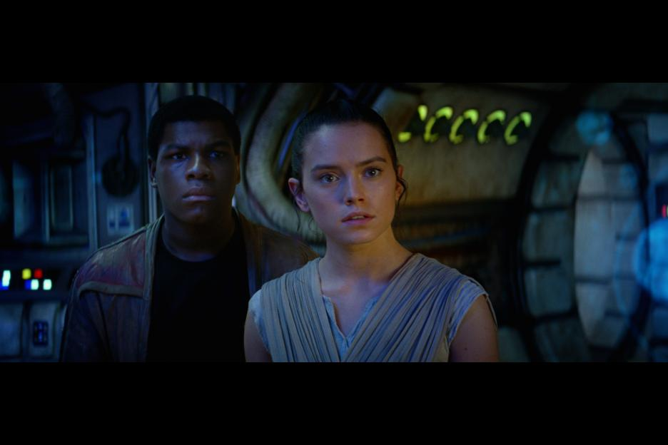 Rey and Finn embark on an adventure in <i>The Force Awakens</i>.