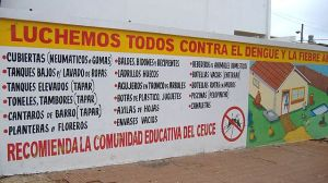 Information campaign for prevention of dengue and yellow fever in Paraguay.