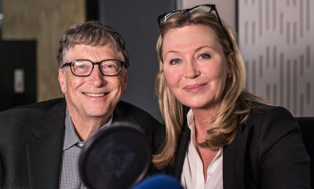 Doing the nerd dance: Bill Gates appears on BBC Radio 4's Desert Island Discs