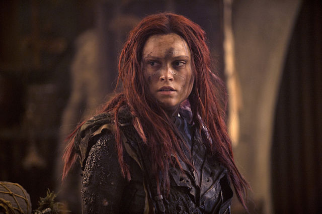 "From tonight's episode of <i>The 100</i>, ""Wanheda: Part One."""