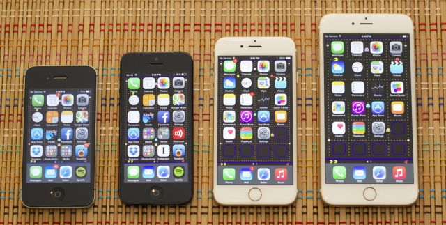 The iPhone 4S, 5, 6, and 6 Plus.