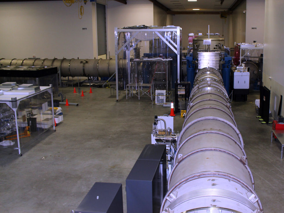 This is the beginning of LIGO's beam tube.