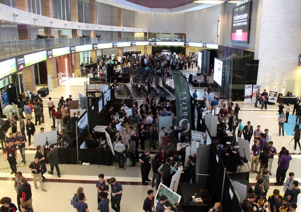 The hyperloop pod design contest took place in Texas A&M University's Hall of Champions.