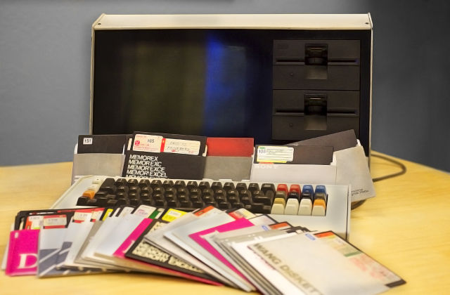 Gene Roddenberry's computer and floppy disks.