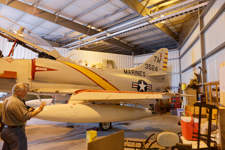 A Douglas TA-4J Skyhawk.