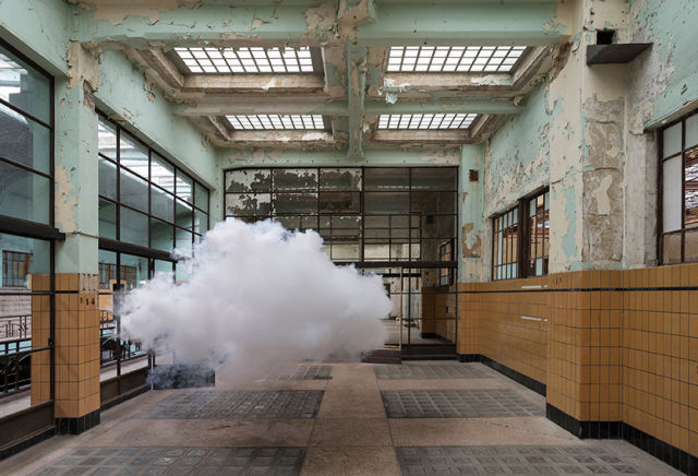 Artist Berndnaut Smilde imagines strange new climates of the Anthropocene by suspending clouds in the middle of rooms.