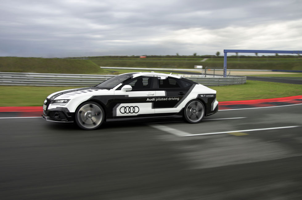 This is Bobby, one of Audi's self-driving research vehicles.