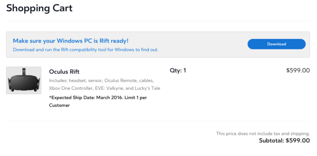 bda88ed494d Virtually a reality  Oculus Rift goes on sale for  599  Updated ...