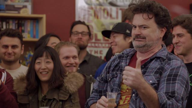 Double Fine founder Tim Schafer celebrates a $3.3 million crowdfunding success for <em>Psychonauts 2</em>.