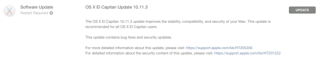 Apple releases OS X 10.11.3 with fixes for bugs and security [Updated]