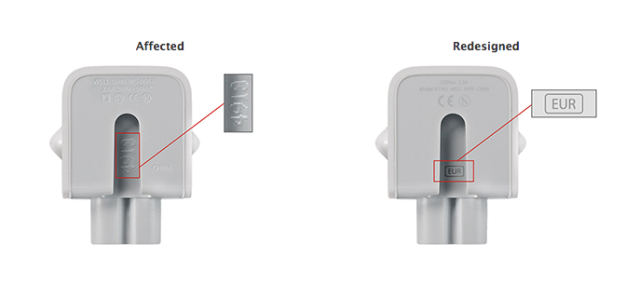 Apple recalls two-prong AC adapter over shock risk