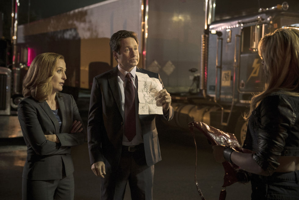 "Gillian Anderson and David Duchovny in ""Mulder & Scully Meet the Were-Monster"", episode three of the new <i>X-Files</i> miniseries."
