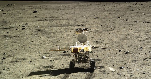 The Chang'e-3 probe carried the Yutu rover to the lunar surface in 2013.