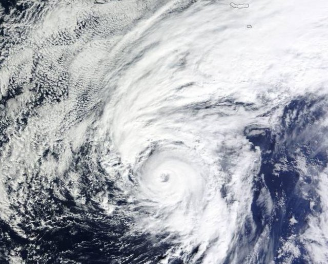 Hurricane Alex as observed by NASA's MODIS satellite at 10:30am ET Thursday.