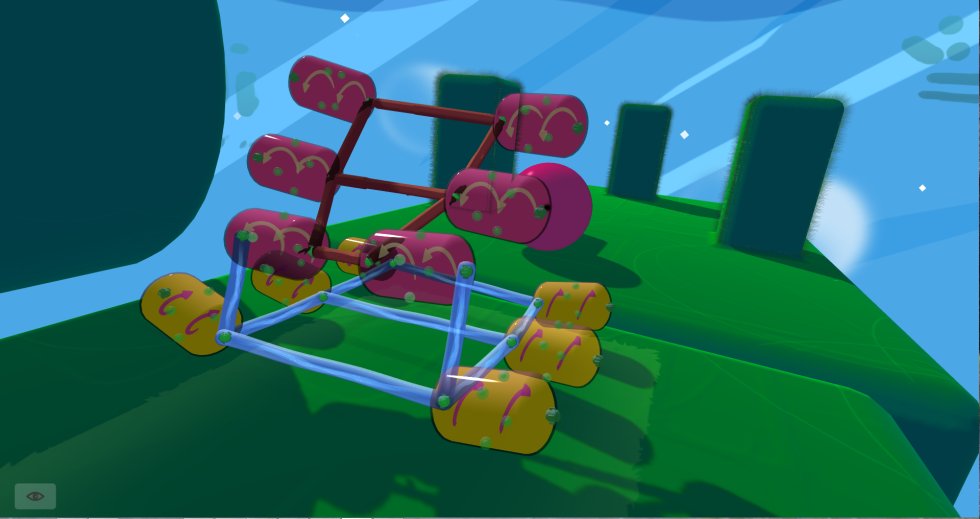 <em>Fantastic Contraption</em> lets players build complicated, moving robots in 3D space. You'll appreciate the ability to walk all the way around your complicated creations so as to make their designs efficient—and help them obey the laws of physics.