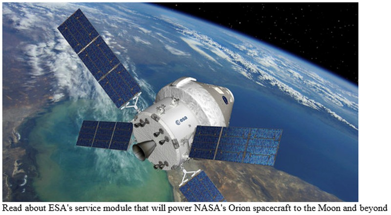 NASA says it will use the Orion spacecraft to come back from Mars. But in its press materials, shown in this image, ESA has other ideas.