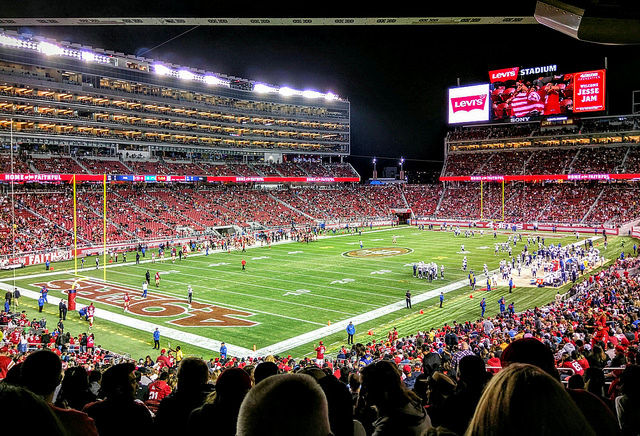 Levi's Stadium in Santa Clara, CA., home to Super Bowl 50 and the San Francsico 49ers.