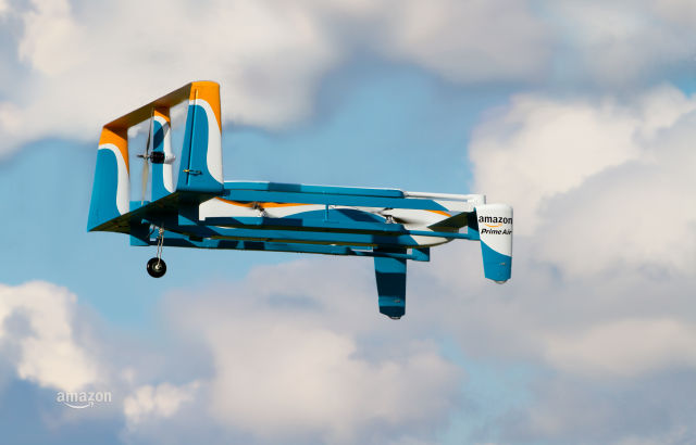 Amazon Prime Air: Drones to carry 5lb packages over 10 miles in 30 minutes