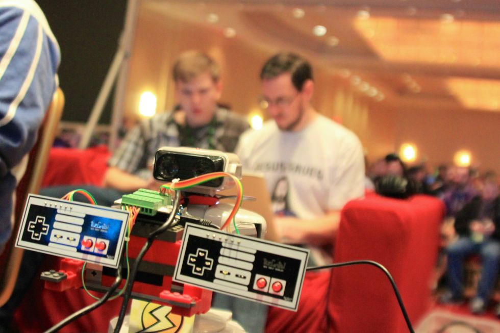 """How a game-playing robot coded """"Super Mario Maker"""" onto an"""
