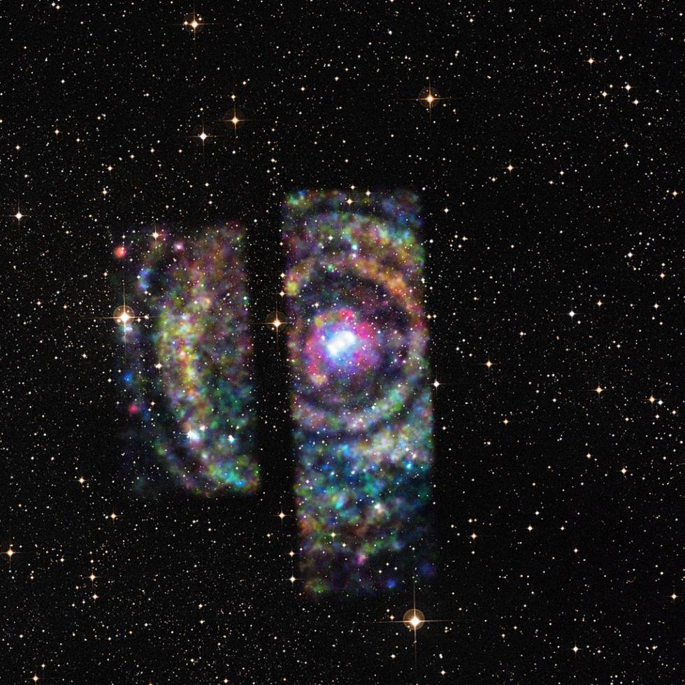 NASA's Chandra X-ray Observatory observes X-ray light rings from a binary neutron star.