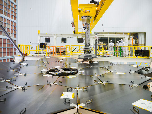 Recently, the James Webb Space Telescope team used a robotic arm to install the last of the telescope's 18 mirrors onto the telescope structure.