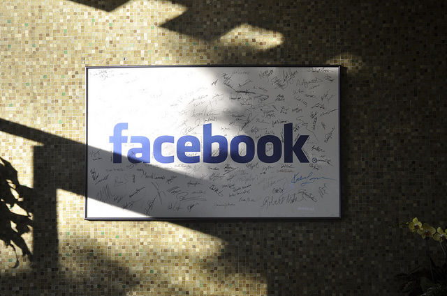 The Facebook signature wall in question is much bigger than this one, by the way.