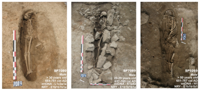 Three Muslim burials from the seventh or eighth century CE, in the French town of Nimes. The people were buried with great care, using Islamic funeral traditions that persist to this day.