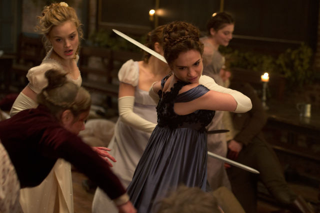 The Bennet sisters stash swords under their gowns for a reason.
