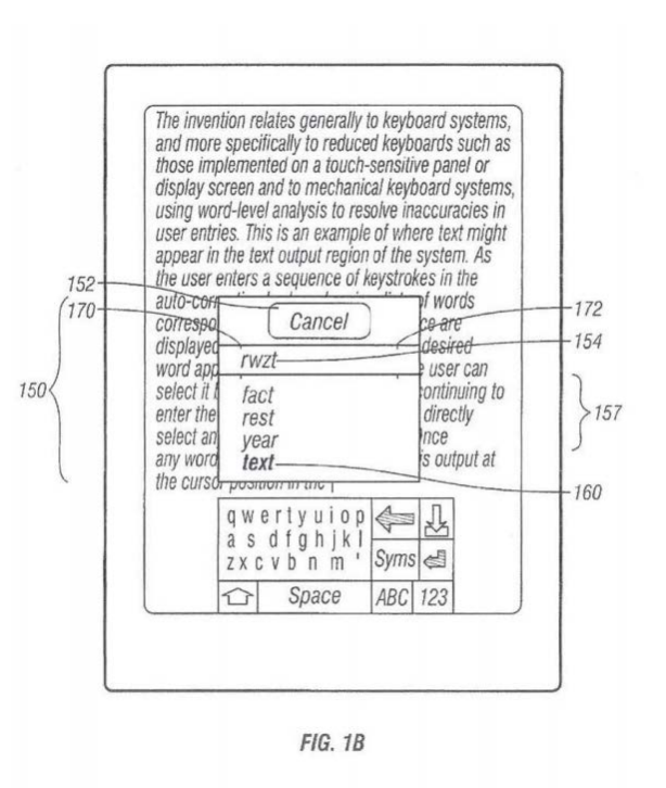 """A diagram from the """"Robinson"""" patent, which pre-dates Apple's autocorrect feature."""