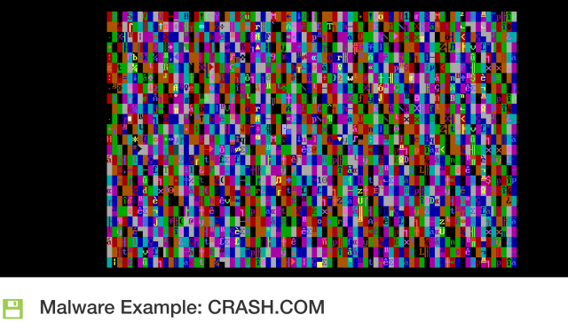 All of the pretty MS-DOS virus colors.