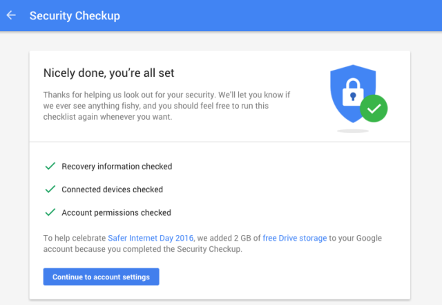 Today you can get 2GB of Google Drive storage for free