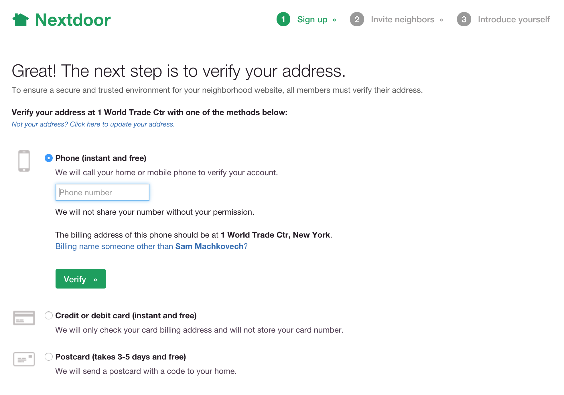 If you want to join NextDoor.com, you'll need to provide proof of identity in one of these three ways. A reporter isalleging that using such a restricted forum to host official police correspondence with citizens may violate Washington State law.