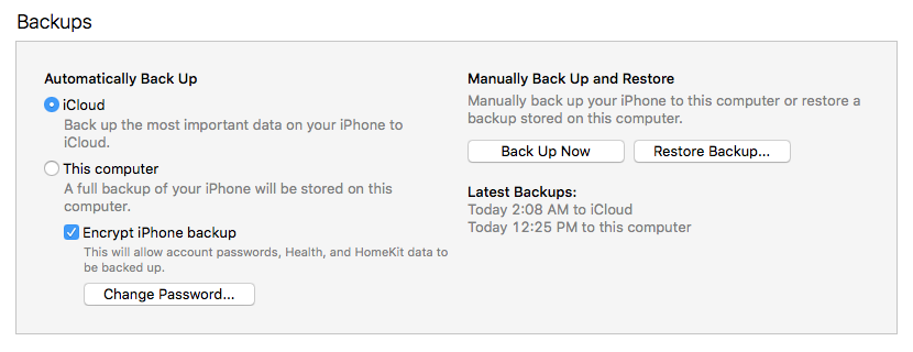 The case for using iTunes, not iCloud, to back up your