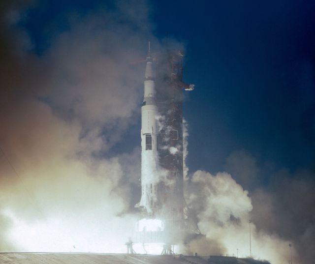 The Apollo 12 launch.
