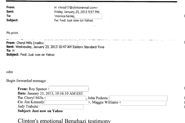 One of the thousands of e-mails from Hillary Clinton's personal mail server that have been publicly released by the State Department. Now, 22 have been labeled with a Top Secret or higher classification.