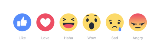 Citizens of Facebook, you will now be permitted to express these six feelings. All other emotions are forbidden.