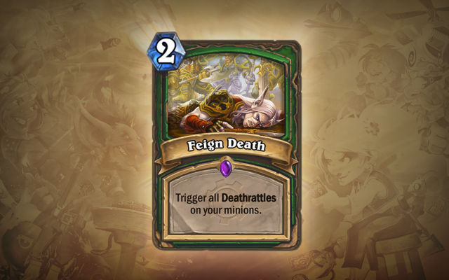 "You see, because Blizzard is ""killing"" off cards when it doesn't need to. Eh? Oh, forget it..."