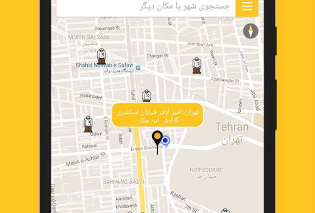 Morals checkpoints reported in Tehran by users of Gershad.