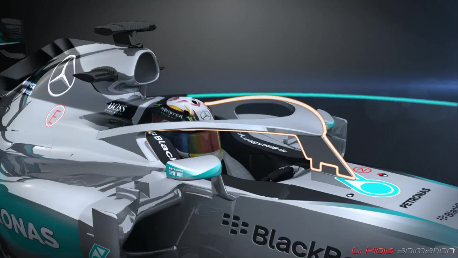 This is what the cockpit halo will look like.