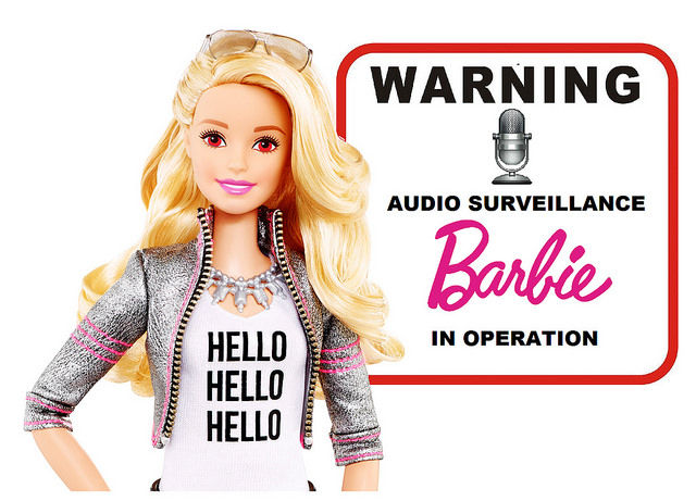 Who needs crypto backdoors when Barbie can spy on you?