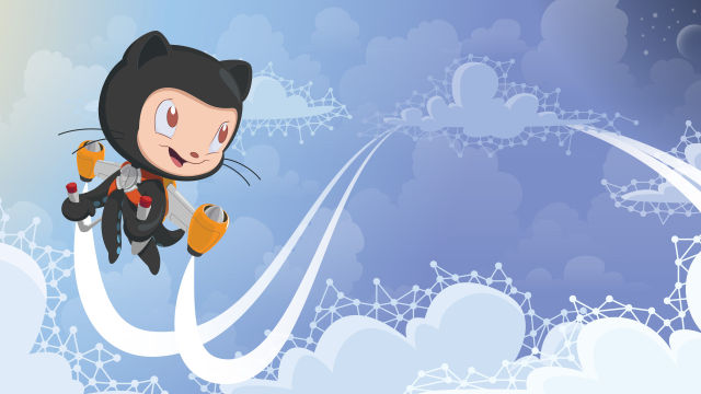 GitHub's octocat knows how to fly a jet pack but still has some gender issues.