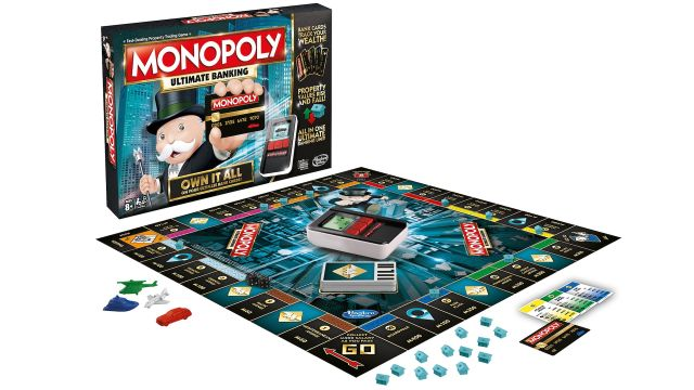 The <em>Monopoly Ultimate Banking Edition</em> replaces all cash with a battery-powered ATM and scannable cards.