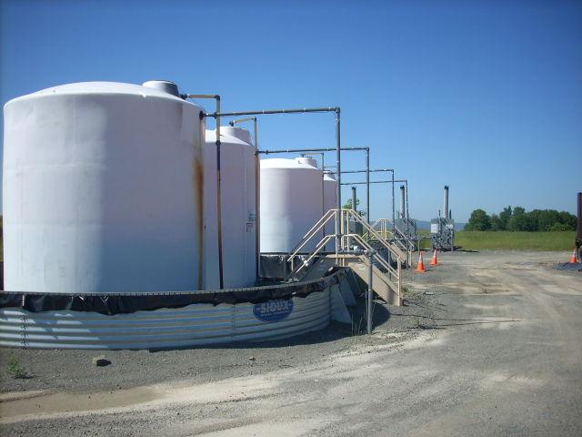 Storage tanks near some Pennsylvania natural gas wells.