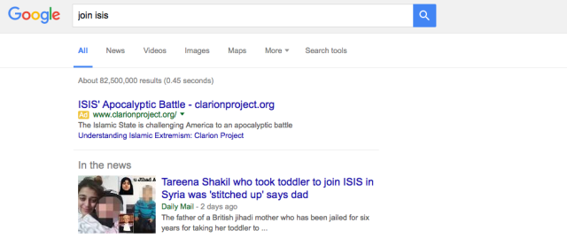 Google joins the battle against ISIS, starts showing anti-extremism ads in search results
