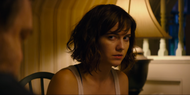 Mary Elizabeth Winstead plays the trapped Michelle with just the right combination of incredibly suspicious, scared, and dangerous.