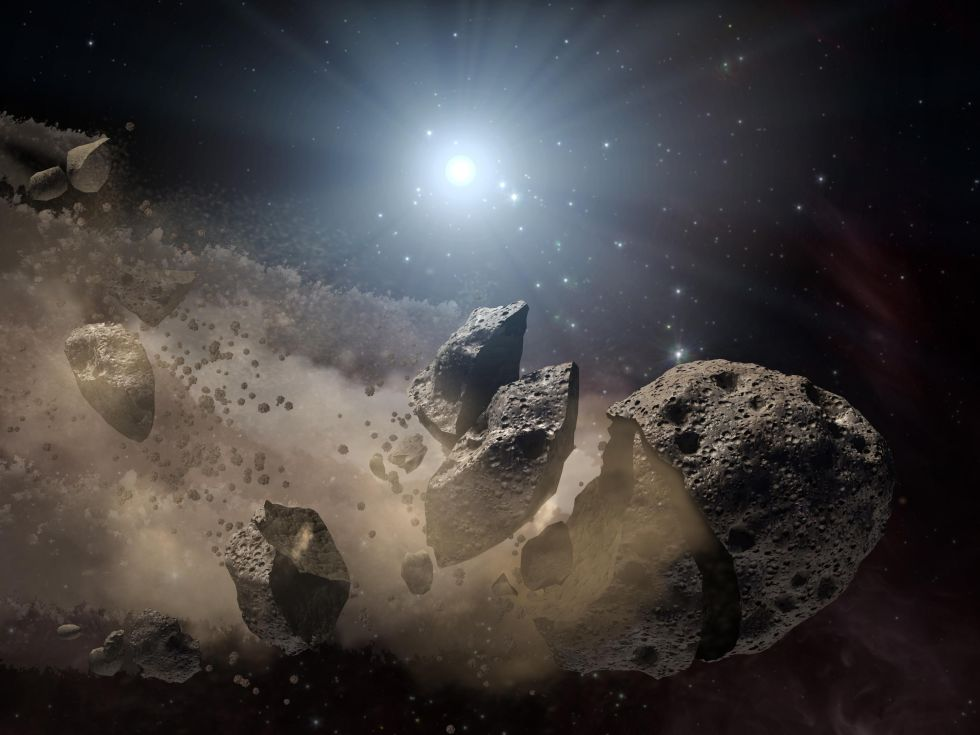 Scientists think a giant asteroid broke up long ago in the main asteroid belt before eventually striking Earth 65 million years ago and wiping out the dinosaurs.