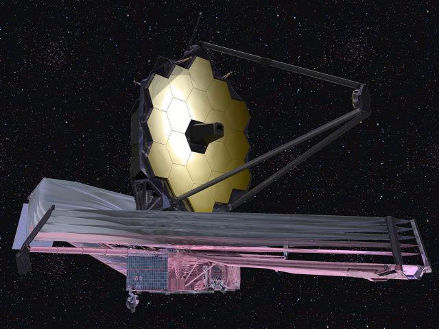 The James Webb Space Telescope as it will appear in orbit.